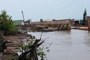 Nhiều đơn vị chịu trách nhiệm trong vụ sạt lở bờ kè Tắc Sông Chà