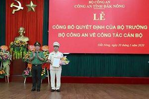 Thiếu tá Nguyễn Hữu Đức làm Phó giám đốc Công an tỉnh Đắk Nông