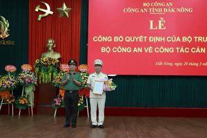 Bộ Công an điều động PGĐ Công an Hòa Bình làm PGĐ Công an Đắk Nông
