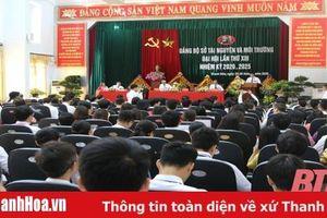 Đại hội Đảng bộ Sở Tài nguyên và Môi trường nhiệm kỳ 2020 – 2025
