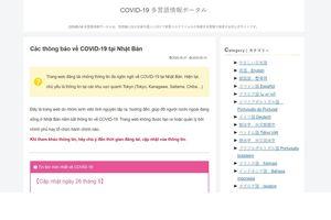 Nhóm sinh viên Nhật Bản ra mắt website hỗ trợ người nước ngoài về Covid-19