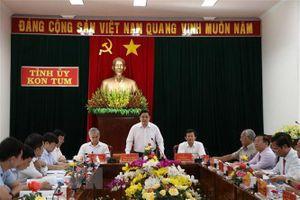 Ông Phạm Minh Chính làm việc với Ban Thường vụ Tỉnh ủy Kon Tum