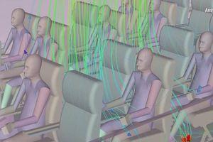Video đồ họa cho thấy Covid-19 dễ lây trên máy bay như thế nào