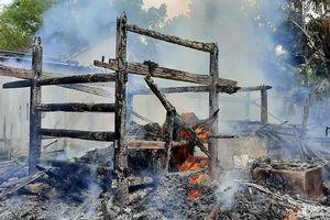 Chập điện gây cháy rụi chuồng trâu, gà vịt của hai ông bà già