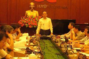 Phó Chủ tịch Thường trực HĐND thành phố: Ứng Hòa tiếp tục rà soát, làm tốt công tác chuẩn bị cho Đại hội Đảng bộ huyện