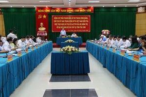 Đồng chí Trần Thanh Mẫn làm việc với Ban Thường vụ Tỉnh ủy Trà Vinh