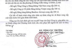 Yêu cầu Tổng cục Du lịch thu hồi văn bản 'xin' 400 vé máy bay miễn phí