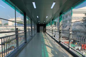 Cận cảnh cầu bộ hành có thang máy hiện đại nhất TP.HCM