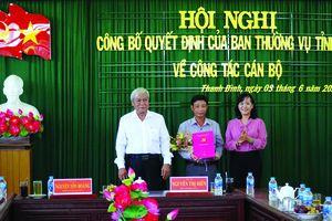 Trao quyết định chuẩn y kết quả bầu cử Phó Bí thư Huyện ủy Thanh Bình