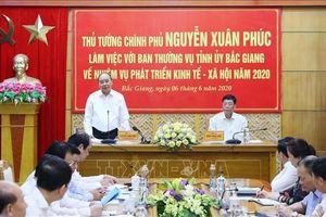 Thủ tướng làm việc với lãnh đạo tỉnh Bắc Giang
