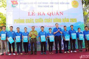 Nghệ An: 400 đoàn viên thanh niên ra quân phòng cháy, chữa cháy rừng năm 2020