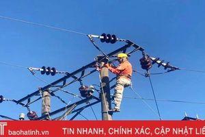 Điện lực Lộc Hà diễn tập xử lý sự cố và quản lý an toàn lưới điện