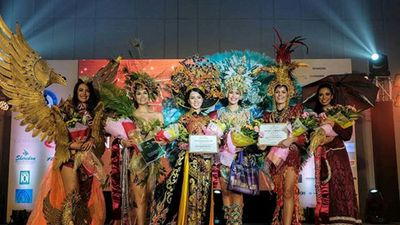 Cận trang phục giúp Thúy Vi đoạt giải tại Miss Asia Pacific International