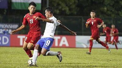 U.16 Việt Nam trắng tay trong trận ra quân ở giải châu Á 2018