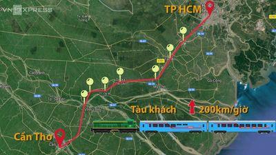 Giảm 17.100 tỷ đồng khi đổi hướng tuyến đường sắt TP.HCM - Cần Thơ