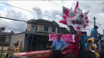 Những kiểu đầu lân kì lạ trong dịp trung thu ở Đắk Lắk