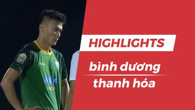 Highlights CLB Bình Dương 3-1 CLB Thanh Hóa: Bùi Tiến Dũng mắc sai lầm