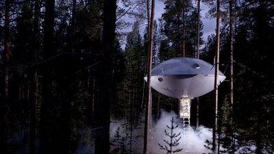Khách sạn bí ẩn có hình dạng như phi thuyền ngoài hành tinh
