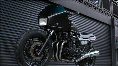 Soi xe môtô cảnh sát Honda CBX750 độ siêu lạ