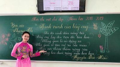 Trầm trồ trước chữ viết 'đẹp như tranh' của các giáo viên tiểu học