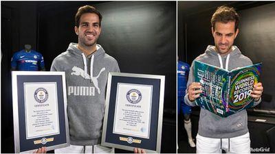 Fabregas lại một lần nữa vào sách Kỉ lục Guinness
