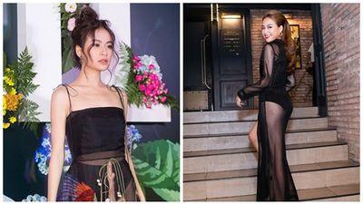 Diện trang phục lộ nội y kết hợp họa tiết thiếu tinh tế, Hoàng Thùy Linh bị chê ăn mặc phản cảm