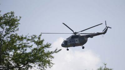 Trực thăng Hải quân Mexico lao xuống biển