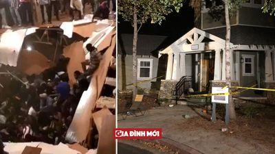 Sàn nhà bất ngờ sập, ít nhất 30 người đang dự tiệc rơi xuống hố