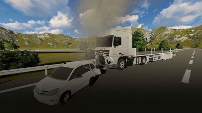 Xe đầu kéo va chạm Innova đi lùi do lỗi hỗn hợp của 2 tài xế?