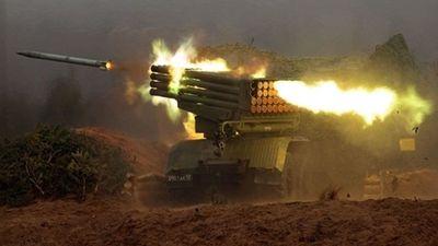 Syria dùng siêu pháo phản lực diệt khủng bố IS cố thủ gần núi lửa