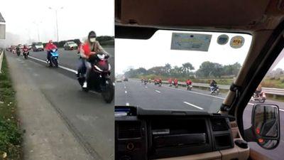 Đoàn 14 xe máy chạy trên cao tốc Pháp Vân - Cầu Giẽ khiến phượt thủ bị ghét thêm