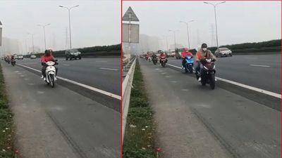 Đoàn xe máy nối đuôi đi vào đường cao tốc Pháp Vân - Cầu Giẽ: CSGT nói gì?