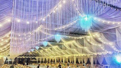 Dân mạng choáng với chi phí phông bạt tiền tỷ của đám cưới khủng tại Cao Bằng
