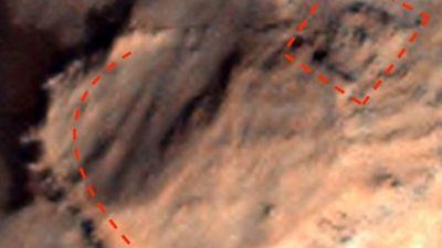 Xôn xao cấu trúc xương cổ đại trên sao Hỏa