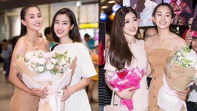 Hoa hậu Mỹ Linh, Á hậu Phương Nga đón Tiểu Vy trở về sau Miss World 2018
