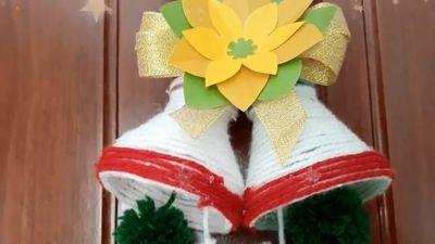 Clip: Cách làm chuông trang trí Giáng sinh độc lạ từ vỏ chai