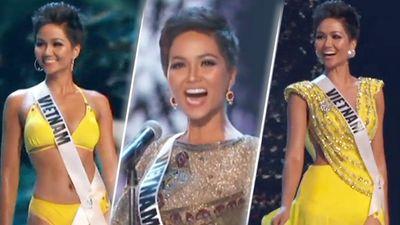 Người hâm mộ hô vang 2 từ 'Xuất sắc' dành cho H'Hen Niê trong bán kết Miss Universe 2018