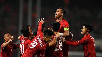 Khoảnh khắc ăn mừng chức vô địch của ĐT Việt Nam