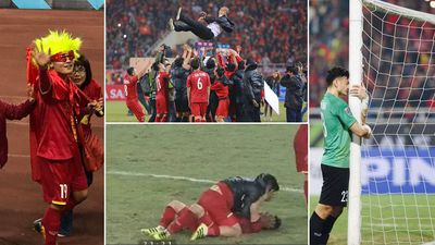 Những màn ăn mừng 'bá đạo' của các cầu thủ Việt Nam khi giành cúp vô địch AFF Cup 2018