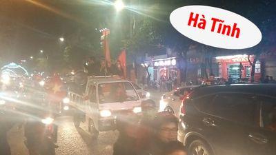 Đêm ăn mừng cuồng nhiệt ở Hà Tĩnh