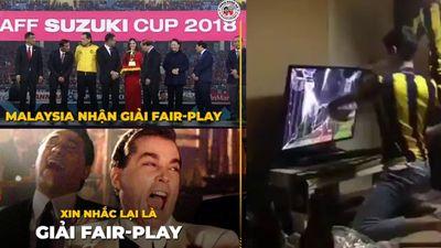 Thực hư clip fan cuồng Malaysia đấm bể tivi vì đội nhà được giải fair-play