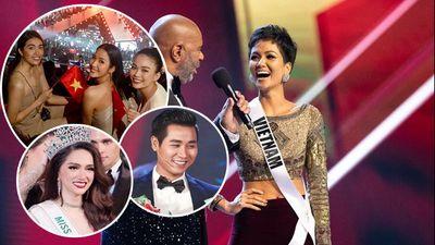 Sao Việt hân hoan khi H'Hen Niê lập kỳ tích vào top 5 Hoa hậu Hoàn Vũ