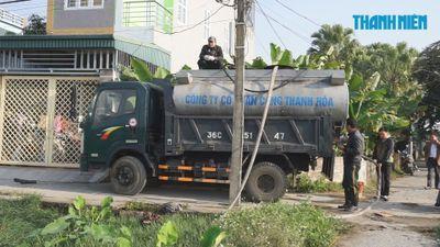 Hàng trăm hộ dân TP.Thanh Hóa khốn khổ vì sự cố tràn dầu