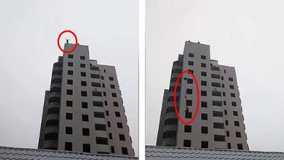 Kinh hoàng mẹ chứng kiến con tử nạn vì khuyến khích nhảy từ tầng 14 bằng dù tự chế