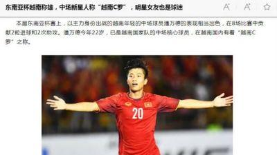 Báo Trung Quốc gọi Phan Văn Đức là 'Ronaldo Việt Nam'