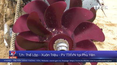 Phú Yên phát hiện và đưa một quả ngư lôi vào bờ an toàn
