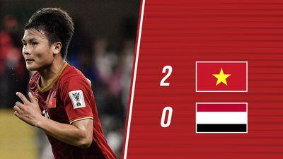 Chấm điểm Việt Nam 2-0 Yemen: 'Song Hải' hay nhất trận