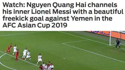 Báo nước ngoài ngỡ ngàng, so sánh Quang Hải với Messi sau siêu phẩm sút phạt