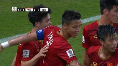 Việt Nam 2-0 Yemen: Quế Ngọc Hải sút phạt nhẹ nhàng, thủ môn Yemen lần thứ 2 nhặt bóng