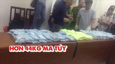 Thu giữ 44 kg 'hàng trắng' trong đường dây ma túy xuyên quốc gia cực lớn